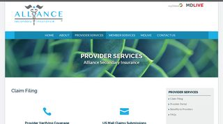 Provider Services - Alliance Secondary Insurance