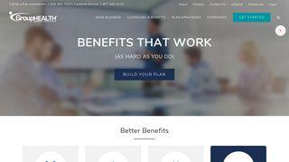 GroupHEALTH: Employee Health Insurance, Health benefits