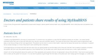 RelayHealth and myHealthNS   McKesson Canada - McKesson ...