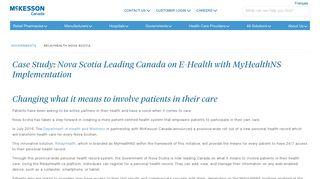 RelayHealth in Nova Scotia   McKesson Canada - McKesson Canada ...