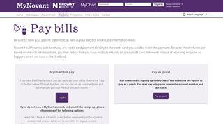 Online Bill Pay using MyChart at Novant Health - MyNovant