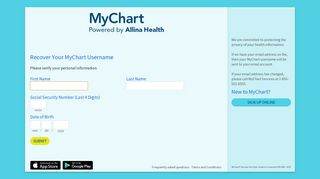 Recover Your MyChart Username