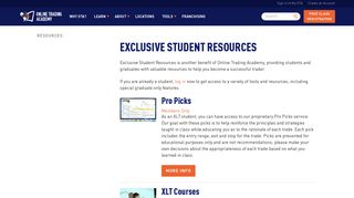 Exclusive Student Resources and Trading Tools   OTA