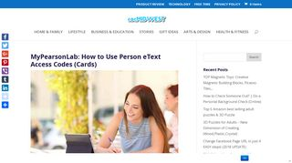 MyPearsonLab: How to Use Pearson eText Access Codes (Cards)