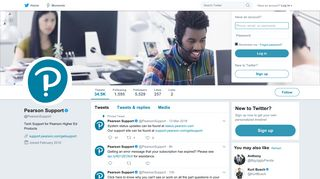 Pearson Support (@PearsonSupport) | Twitter