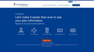 United Healthcare For Members - UnitedHealthcare Community Plan