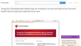 Using the FollowMyHealth Mobile App for Android to Access the ...