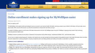 Online enrollment makes signing up for MyWellSpan easier ...
