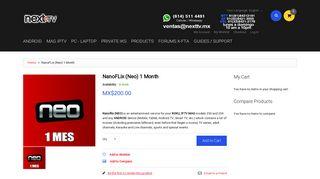 NanoFLix (Neo) 1 Month - X-FTA