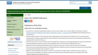 Select CDC NARMS Publications | NARMS | CDC