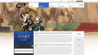 News - Unlimited Ninja - Free Naruto Online Game at Joyfun