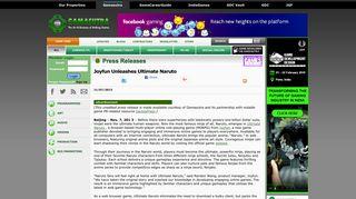 Gamasutra - Press Releases- Joyfun Unleashes Ultimate Naruto