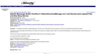 NateOn Messenger Buffer Overflow in 'NateonDownloadManager.ocx ...