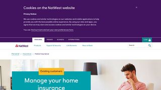Home insurance claims - NatWest