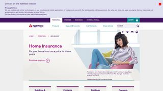 Home Insurance, House Insurance Quotes - NatWest