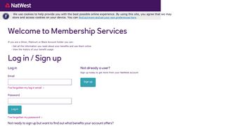 Natwest Membership Services - Signin Username