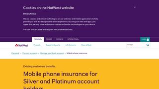 Mobile phone insurance - NatWest