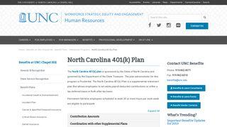 North Carolina 401(k) Plan - UNC Human Resources
