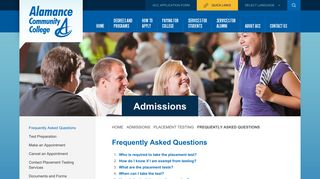 Frequently Asked Questions - Admissions Admissions