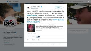 NC Public Safety on Twitter:
