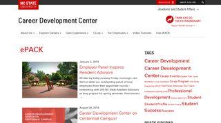 ePACK   Career Development Center