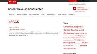 ePACK - NCSU Career Development Center