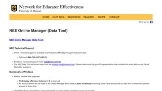 Data Tool - Network for Educator Effectiveness (NEE) - University of ...