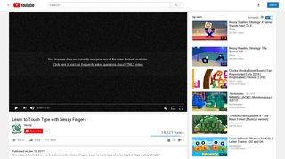 Learn to Touch Type with Nessy Fingers - YouTube