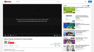 Nessy Training: Get Started On Nessy Reading - YouTube