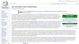 Net neutrality in the United States - Wikipedia