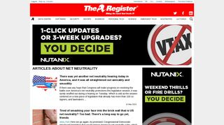 net neutrality • Page 1 • Tag • The Register