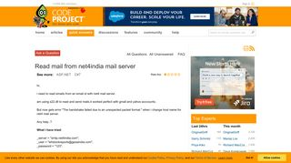 Read mail from net4india mail server - CodeProject