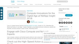 Compute Innovations for the Digital Age at NetApp Insight 2018