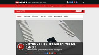Netduma R1 is a serious router for gamers   PC Gamer