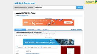 netebl.com at WI. Everest Bank e-Banking:Internet Banking Login
