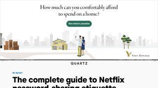 The complete guide to Netflix password-sharing etiquette — Quartz