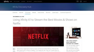 Streaming Netflix with Xfinity X1   Xfinity