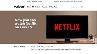 Now Stream Netflix with your Verizon Fios Multi-Room DVR