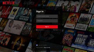 Sign In - Netflix