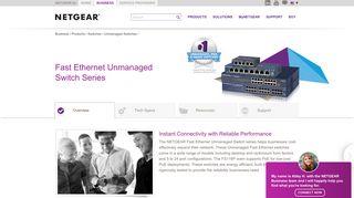 Fast Ethernet Unmanaged Switch Series - FS105 ... - Netgear