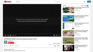 NETGEAR ProSAFE 5 Port Fast Ethernet Switch FS105 - YouTube