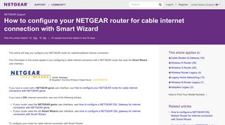 How to configure your NETGEAR router for cable internet ...