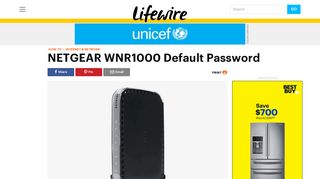 NETGEAR WNR1000 Default Password - Lifewire