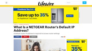 How to Find the Default IP Address of a NETGEAR Router - Lifewire
