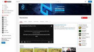 Neuromation - YouTube