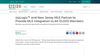zipLogix™ and New Jersey MLS Partner to Provide MLS Integration to ...