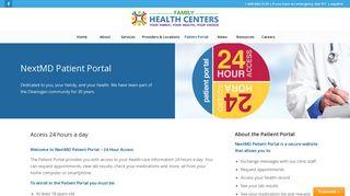 NextMD Patient Portal – My Family Health