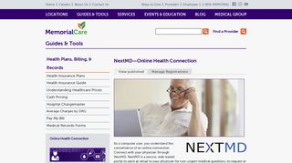 NextMD—Online Health Connection | MemorialCare Health System ...