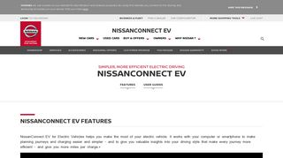 NissanConnect EV for Electric Vehicles - Nissan infotainment system ...