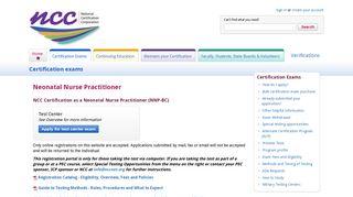 Neonatal Nurse Practitioner - National Certification Corporation